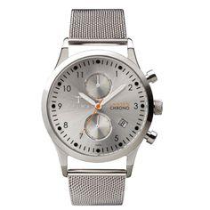 TRIWA Stirling Lansen Chrono horloge - zilver mesh | Triwa dames horloges voordelig bij Kish.nl