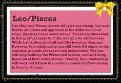 Leo man and pisces woman love compatibility agree, rather
