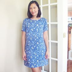 I'm wearing the Ultimate Shift Dress a pattern by Sew Over It