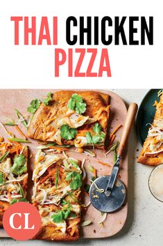 Part of the joy of this easy-to-make weeknight meal is that you get to repurpose leftovers—make the French Onion Roast Chicken the night before, and you'll have enough delicious meat to make both this, and Chicken and Herb Crêpes the night after. Thai Chicken Pizza, How To Cook Chicken, Grilled Chicken, Roast Chicken, Pizza Recipes, Chicken Recipes, Cooking Light Recipes, Weeknight Meals, French Onion