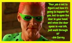 Jim Carrey The Riddler Law of Attraction