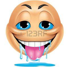 Emoticones Photos et images de stock Animated Emoticons, Funny Emoticons, Funny Emoji, Images Emoji, Emoji Pictures, Funny Pictures, Smileys, Excited Emoticon, Naughty Emoji