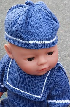 Knitting patterns for dolls clothes - Design 0063D NIRI & VILJA