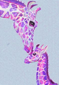 Mother Giraffe by Jane Schnetlage - Mother Giraffe Digital Art - Mother Giraffe Fine Art Prints and Posters for Sale