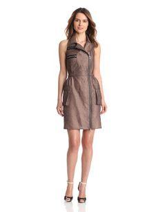 Anna Sui Women's Ribbed Jacquard Sleeveless Dress, Rose, 8