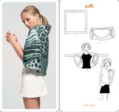 4 Ways to Tie a Scarf - using Square scarfs!!