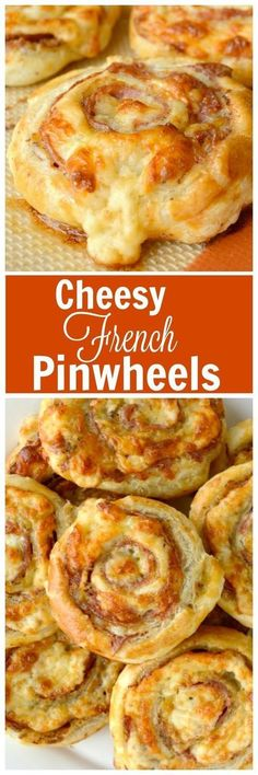 Cheesy French Pinwheels. A super easy appetizer that starts with store bought puff pastry. These are deliciously loaded with salami and Pepper Jack cheese. The combo is really wonderful!