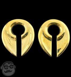 Keyhole Brass Ear Weights