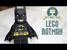 LEGO BATMAN CAKE TOPPER | fondant figure lego movie - YouTube