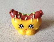 Frank Furter (Shopkins 1-086, 1-096) Frank Furter is a hot dog that has a bright pink weiner and is topped with ketchup and mustard. His variant has a brown weiner. Frank Furter is a common Party Food Shopkin from Season One.