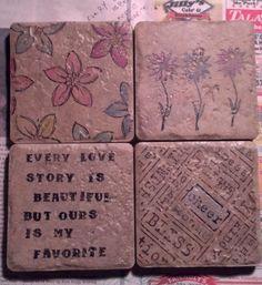 DIY Vintage Chic: Custom Coasters