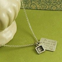 I love this necklace for Mother's Day.  Not only does it have a photo charm, but you can add any personal message!
