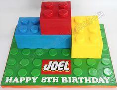 Celebrate with Cake!: Lego Blocks Cake