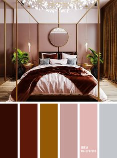 10 Best Color Schemes for Your Bedroom { Burgundy Gold Mustard Blush Mauve }, burgundy blush color palette, colour palette Bedroom Colour Palette, Bedroom Color Schemes, Bedroom Colors, Mauve Bedroom, Brown Colour Palette, Colors For Bedrooms, Brown Bedroom Walls, Brown Bedroom Decor, Mauve Living Room