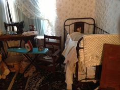 Child's bedroom in the Conductor's House at the Railway Museum.