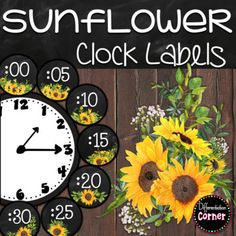Classroom Clock, Classroom Signs, Classroom Decor Themes, New Classroom, Classroom Ideas, Clock Labels, Co Teaching, Teaching Resources, Writing Offices
