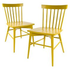 Windsor Dining Chair - Yellow (Set of 2) - Threshold™ : Target