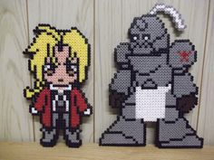 Full Metal Alchemist  Edward and Alphonse hama perler by beadstoterabithia