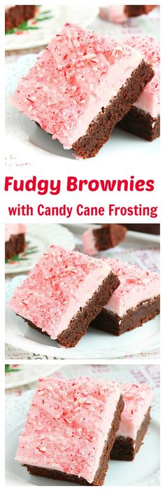 No one can resist these easy-to-make extra fudgy brownies topped with a generous amount of candy cane frosting. The perfect excuse to use those extra candy canes.