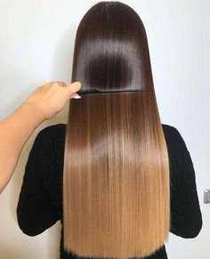 Homemade keratin to straighten your hair at home easily Front Hair Styles, Hair Front, Lace Hair, Shiny Hair, Brunette Hair, Hair Highlights, Balayage Hair, Hair Looks, Hair Lengths