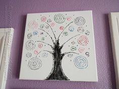 Swirl Tree on Canvas by @amandaformaro Crafts by Amanda