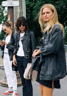 Edie Campbell, Mica Arganaraz, and Anna Ewers.