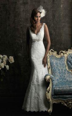 Allure Bridals 8770 Vintage Lace Wedding Dress