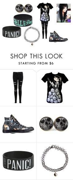 """""""emo"""" by poundsfaith6687 on Polyvore featuring beauty, Miss Selfridge, Converse, Kitty Kat and Accessorize"""