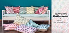 Mademoiselle Dimanche : Design textile et objets de décoration - Coussins originaux, motif vintage et géométrique - Mademoiselle Dimanche