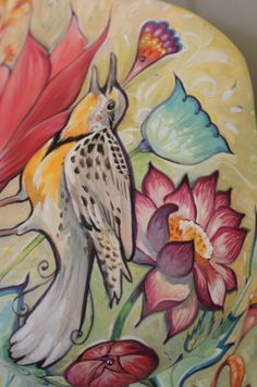 Detail of the meadowlark.
