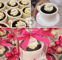 Confeitaria da Luana Cupcake, Pasta, Chocolate Fondue, Bakery, Tableware, Desserts, School, Ideas, Ideas For Mothers Day