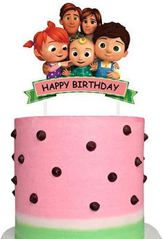 Amazon.com: Cocomelon Cake Topper Decorations Cupcake Toppers Birthday Party Supplies for Children: Toys & Games 1st Birthday Cake Topper, Happy Birthday Bunting, Girl 2nd Birthday, Birthday Cake Decorating, Happy Birthday Cakes, Birthday Ideas, Gold Cake Topper, Unicorn Cake Topper, Melon Cake
