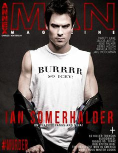 Ian on the cover of Annex Man 2013