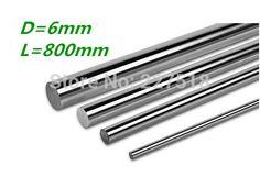 4pcs/lot linear shaft 6mm diameter 800mm  harden linear rod round shaft #Affiliate