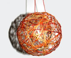 bricolage noel boule fil