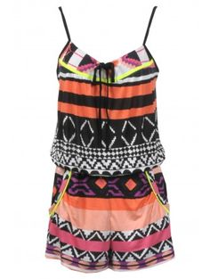 Tribal Print Playsuit £12.00     http://www.selectfashion.co.uk/clothing/s035-0502-08_multi.html#