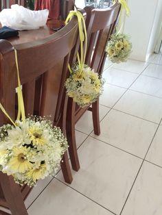 Actual flower girl daisy balls