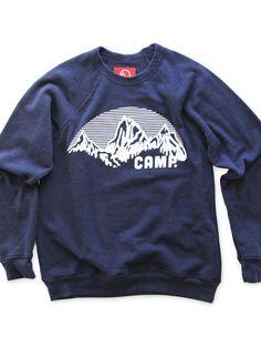 ROCKY MOUNTAIN CREWNECK SWEATSHIRT   TRI-BLUE, $79.99 by Camp Brand Goods