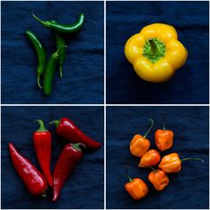 Peppers, from fresh to dried