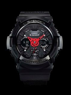 G-Shock x Supra Vaider Collaboration. G-Shock and Supra joined forces for G-Shock's Anniversary. Casio G Shock Watches, Sport Watches, Casio Watch, Gold Watches Women, Watches For Men, Black Watches, Ladies Watches, Wrist Watches, Men's Watches