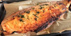 Roast salmon with a super easy glaze to die for.. #roastsalmon #bakedsalmon #25minutesalmon #wholesalmon #recipe