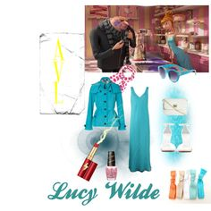 Lucy Wilde from Despicable Me 2 by evron on Polyvore featuring Zonda Nellis, Burberry, Zara, ASOS, Alex Woo, Quay, White Stuff, Estée Lauder and OPI