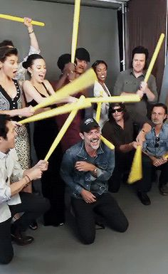 The Walking Dead cast behind the scenes of their photoshoot with Entertainment Weekly