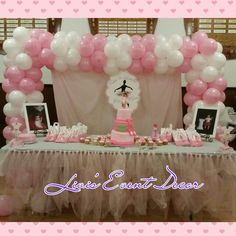 Pink and White Balloon Arch