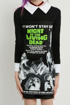 Night of the Living Dead Collar Dress - Vera's Eyecandy
