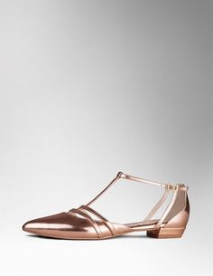 Strappy T-bar AR703 Flats at Boden