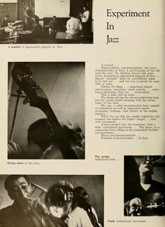 "Athena yearbook, 1958. ""Experiment In Jazz."" :: Ohio University Archives"