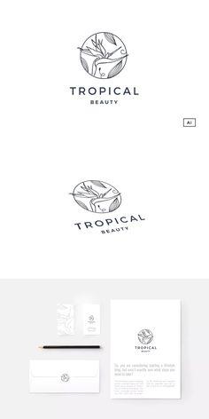 Bird Of Paradise Emblem Logo Template AI