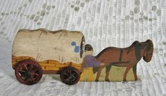 Mini Toy Wood Conestoga Wagon Double Sided ~ $18.00