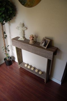 narrow console tables from pallets - Google Search